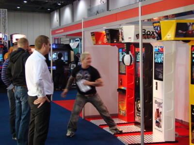 Testing iBoxer Striptease at EAG 2012