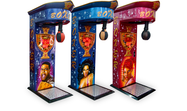 Airbrushed Boxer amusement machine